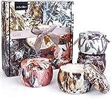 Albrillo Velas Perfumadas 4 Piezas Set de Vela Aromática