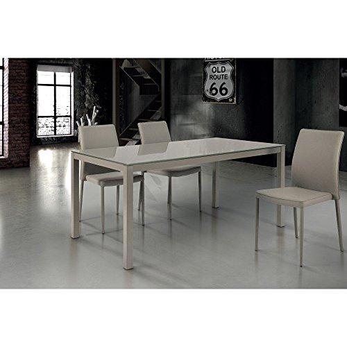 Tavolo Da Pranzo Moderno Di Design Allungabile Cm 90 X 160/210/260 ...