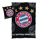 FC Bayern Bettwäsche 'Logo schwarz' 135x200cm 80x80cm