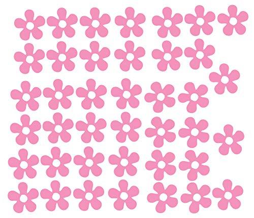 60 Second Makeover Limited Vinyle Qualité Fleurs Autocollants Auto Moto Sccoter Casque Autocollant Graphique Filles - Rose Brillant