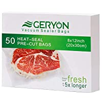 GERYON Vacuum Sealer Bags 20X30cm (50 pieces)