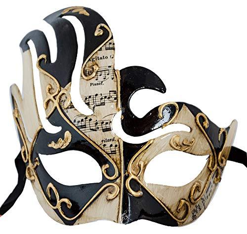 LannaKind Handgefertigte Venezianische Maske Augenmaske Colombina (Cl03)