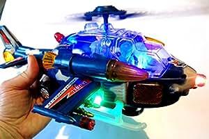 Hélicoptère de guerre avec son et lumière