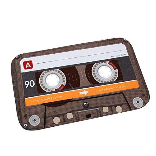 OuYou Retro - Felpudo Decorativo con Cinta de Cassette para Cocina, Interior, Exterior,...