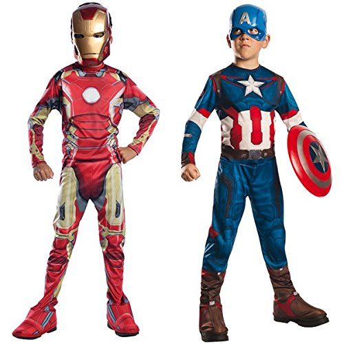 Imagen de marvel 155014l  disfraces para niños, avengers captain america iron man 2, talla l alternativa