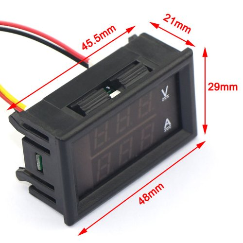 DROK YB27VA-50A Dual Display Digital Voltmeter/Ammeter, DC 0V-100V/50 on