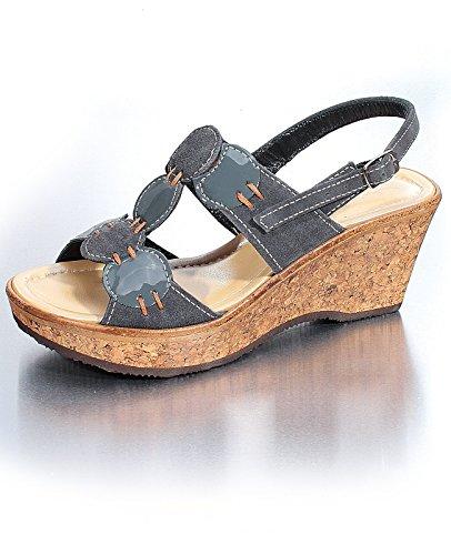 Marion Spath , chaussures compensées femme Gris - Asphalt-Grau