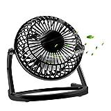 Ventilador USB, KOROSTRO mini fan Silencioso Portable Lightweight Plástico USB Desk Fan, 360 ° giratorio ventilador de mesa(Negro)