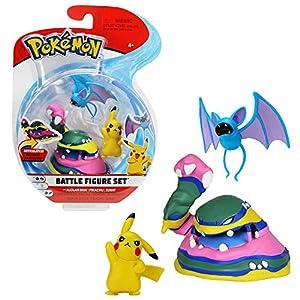 Pokèmon 82971 Pack de 3 Figuras Pikachu, Nosferapti y Alolan Muk