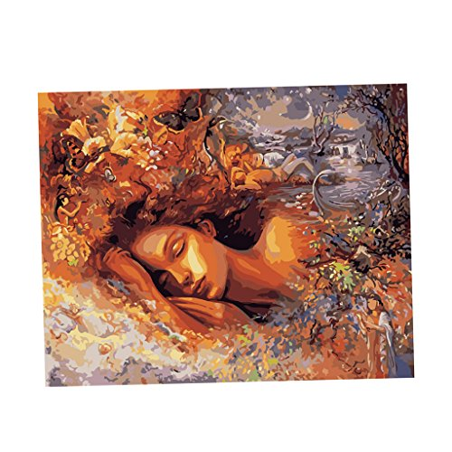 Phenovo Art Paint By Numbers Digital Oil Painting On Canvas No framed With Pigment & Paint brushes - fairy girl, 40x50cm