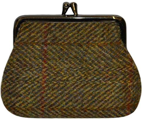 Harris Tweed Braun Herringbone Single-Verschluss-Geldbörse