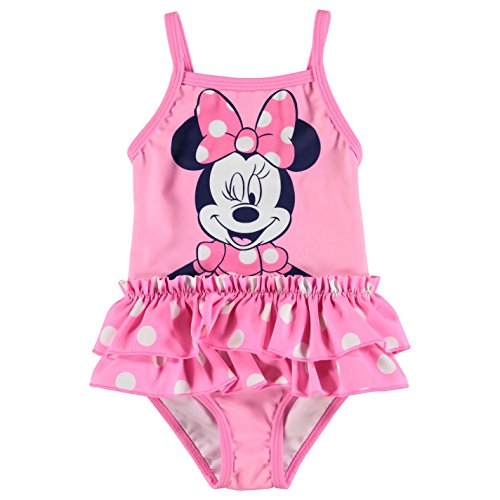 Character Kinder Baby Maedchen Badeanzug Schwimmanzug Print Einteiler Bademode Disney Minnie 3-6 Mnth (Disney Baby-mädchen)