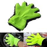 Luyao 1 stück Chenille Auto Reinigungshandschuhe Mikrofaser Fünf Finger Waschhandschuhe Autolack Handschuhe Reinigungswerkzeuge