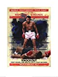 1art1 100976 Muhammad Ali - Knockout, James Paterson Poster Kunstdruck 80 x 60 cm