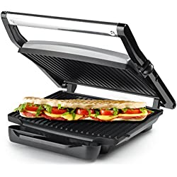 Princess 112412 - Panini grill (2000 W, acero inoxidable)