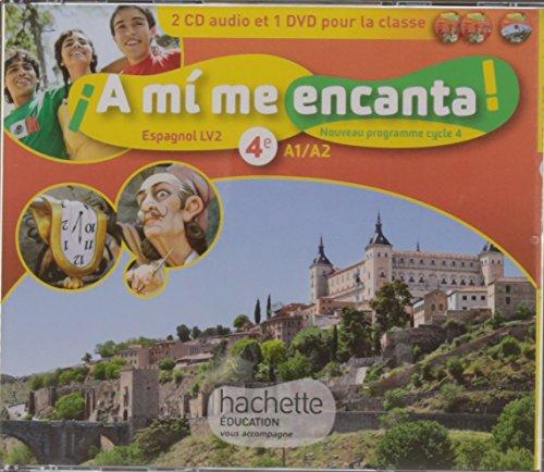A mi me encanta espagnol cycle 4 / 4e LV2 - Coffret CD/DVD - éd. 2017: enregistrements audio et vidéo