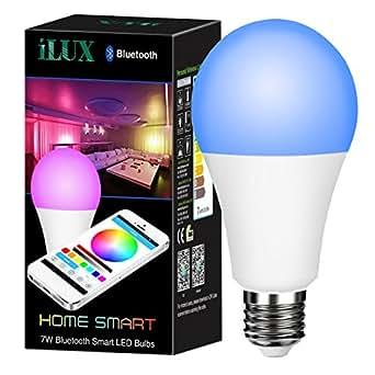 LE Bluetooth Smart RGB LED Lampen Birnen 7W, ersetzt 50W Glühbirne, Farbwechsel und dimmbar mit APP Fernbedienung, iPhone, und Android, Deko Weihnachten Party Ambientbeleuchtung