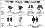 ObboMed® MF-2010 elektrischer Fußwärmer, 12V, mit Karbon-Heizelementen, Fußwärmer, aufheizbare Hausschuhe, Wärmehausschuhe, Fußheizer, Wärmeschuh, Heizschuhe, Hausschuhe, Fußsack, beheizbare Hausschuhe, Zehenwärmer - 5