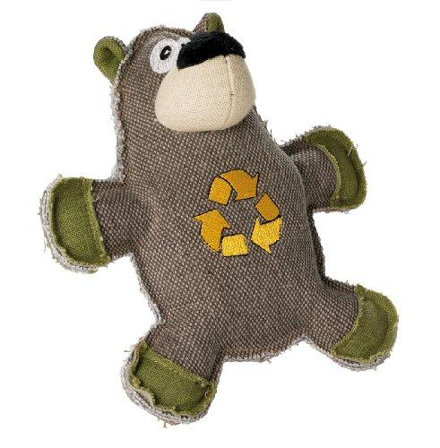 HUNTER CANVAS CYCLE BEAR Hundespielzeug, Vintage-Style, mit Baumwolle, Quietschspielzeug, Bär, 21 cm -