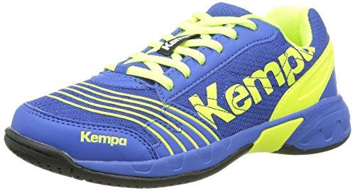 Kempa ATTACK ONE JUNIOR, Unisex-Kinder Hallenschuhe, Mehrfarbig (royal/fluo gelb), 29 EU