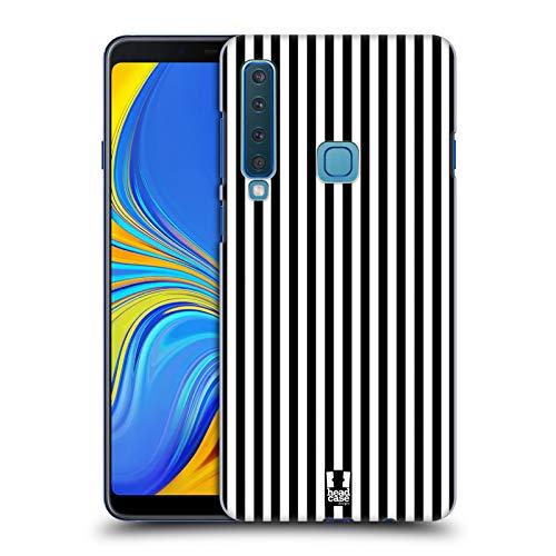 Head Case Designs Schwarz Vertikale Streifen Ruckseite Hülle für Samsung Galaxy A9 (2018) / A9s