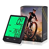 Wireless Computer Bike, Bicycle Cycling Odometer Speedometer - Multi Function with Extra Large LCD backlight display Waterproof