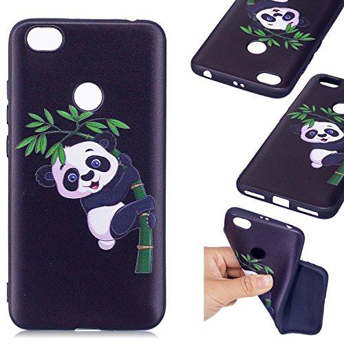 Linvei Xiaomi Redmi Note 5A Coque,Ultra Mince TPU Silicone Design Antichoc et Anti-Scratch Housse pour Xiaomi Redmi Note 5A(Ne convient pas Xiaomi Redmi 5A) - Panda en bambou