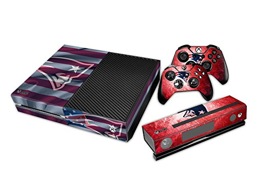 YHC New England Patriots Sticker Aufkleber Skin for Microsoft Xbox One Console+Controllers