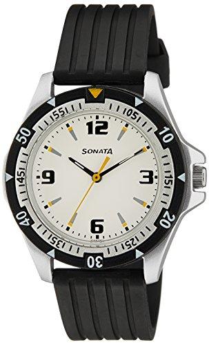 51r3%2Bwh4PUL - Sonata NF7930PP01J Super Fibre Mens watch