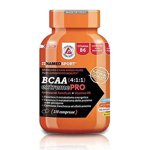 BCAA 4:1:1 EXTREME PRO Named sports - Amino Acidi a catena ramificata + Vitamina B - 210 Capsule - 51r3 N SyoL