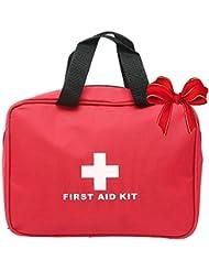 niceEshop(TM) Médico Ligero y Duradero Trauma Kit de Viaje en Coche Deportivo Supervivencia de la Emergencia Que Va de Excursión Inicio (rojo)