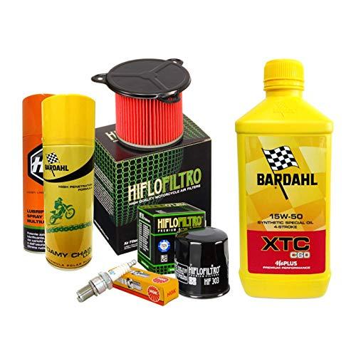 Bardahl XTC 15W50 Filtre à huile pour bougies en spray Transalp 600
