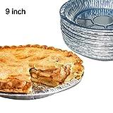 Premium 22,9cm Aluminium Folie Pie Pfannen 50/Set. Einweg Zinn Teller für Pasteten Tart Quiche