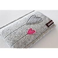 Handytasche - Handyhülle - iPhone 8 - aus hochwertigen Wollfilz - Schutz vor Kratzern & Schmutz