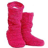 TOSKATOK® Ladies Girls Cosy Warm Microfibre Fleece Boot Slippers