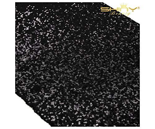 ShinyBeauty Black Sequin Table Runner-12 x 72-inch by ShinyBeauty (Aqua-runner-tabelle)