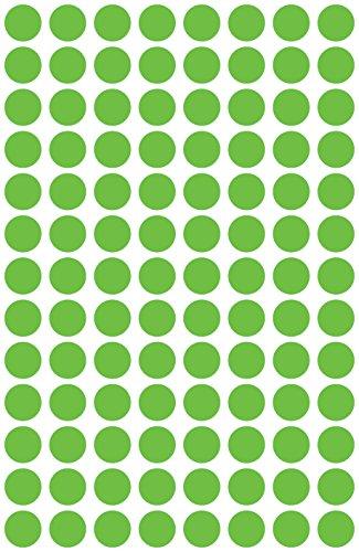 Avery 3592 Círculo Verde 416pieza(s) - Etiqueta autoadhesiva (Verde, Círculo, Papel, 8 mm, 416 pieza(s), 104 pieza(s))