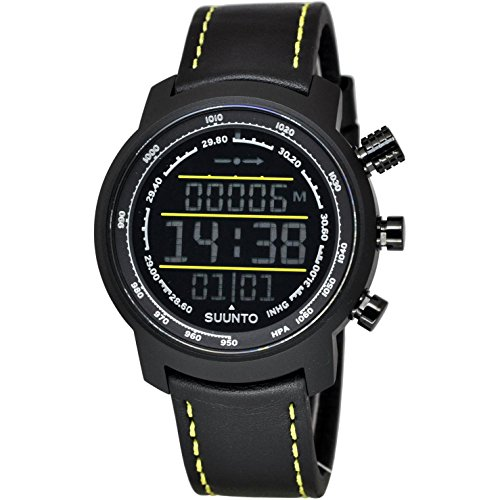SUUNTO MEN'S ELEMENTUM TERRA 44MM BLACK LEATHER BAND QUARTZ WATCH SS019997000