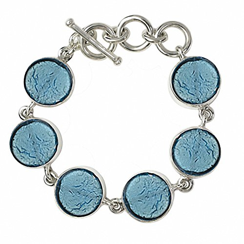 """Gabriella Nanni, Bracelet en argent 925avec verre de Murano-Verre Non déclaré-Bracelet Ronds """" turquoise"""
