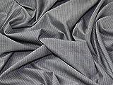 Portugal Pinstripe Stretch anzugstoffe Kleid, Stoff grau, Meterware
