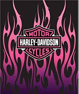 harley davidson pink flammen pl sch queen decke 193 x 238. Black Bedroom Furniture Sets. Home Design Ideas