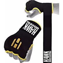 Hawk Boxing, sottoguanti da pugilato, guanti da allenamento per sacco da boxe, con benda avvolgi mano, Yellow