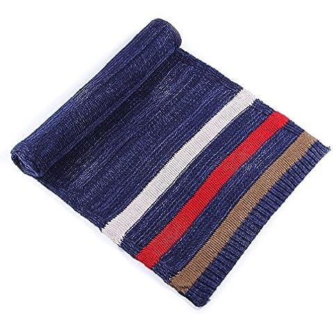 XMQC*Inverno maglione lavorato a maglia sancirà la fine della sciarpa men colore lungo spesso double-sided coppie sciarpa caldo , un blu navy