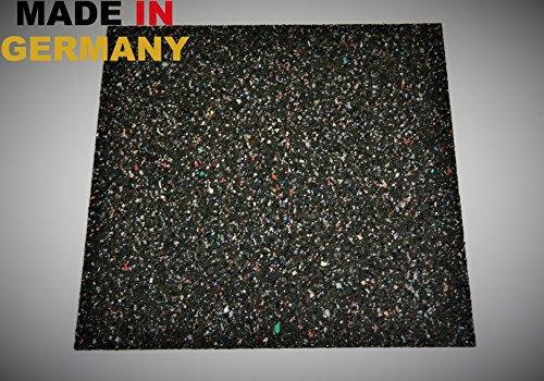 Waschmaschinen - Anti-Vibrationsmatte HxBxT: 600x600x15mm (Marke: Szagato) (Antirutschmatte Bautenschutzmatte Gummigranulatmatte Kofferraummatte Gummimatte)