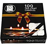 Collection House Ujala Wax Tealight Candles For Decoration | Set Of 100 | White | Unscented | Max Burning Time - 4 Hrs.