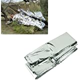 Voberry Outdoor Emergency Blanket Survival Rescue Curtain Military Life-Saving Survival Blanket Silver
