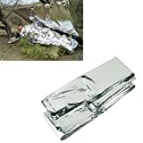 #7: Voberry Outdoor Emergency Blanket Survival Rescue Curtain Military Life-Saving Survival Blanket Silver