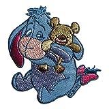 Parches - Winnie Puuh burro I-Aah con Teddy Disney Comic niños - azul - 7,9x7,5cm - termoadhesivos bordados aplique para ropa