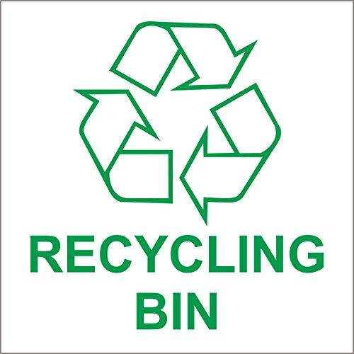 INDIGOS UG - Aufkleber - Sicherheit - Warnung - Recycling Bin Self-adhesive Sticker - Recycle Logo Zeichen - Environment Label 100mm x 100mm (Sticker Sicherheit Zeichen)