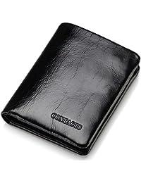 a5d4d1562b5e4 Yzibei Dauerhaft Die Erste Schicht Leder Brieftasche Multifunktions-Karte  Paket Mini BaoChao Licht Zwanzig Prozent Business-Geschenke (Farbe…